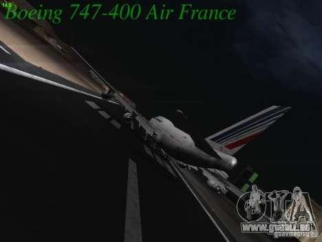 Boeing 747-400 Air France für GTA San Andreas rechten Ansicht
