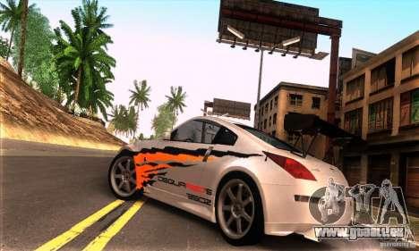 Nissan 350Z Tunable pour GTA San Andreas vue intérieure
