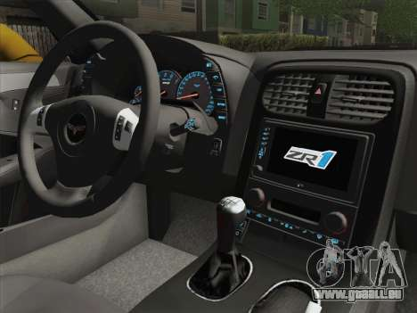 Chevrolet Corvette ZR1 für GTA San Andreas Seitenansicht