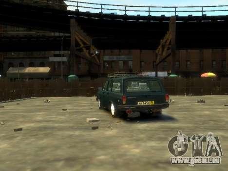 GAZ 310221 Wagon pour GTA 4 Vue arrière de la gauche
