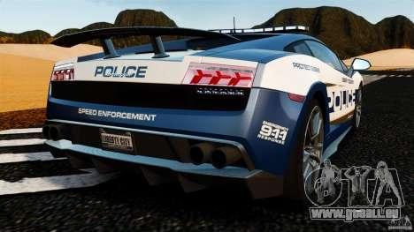 Lamborghini Gallardo LP570-4 Superleggera Police pour GTA 4 Vue arrière de la gauche