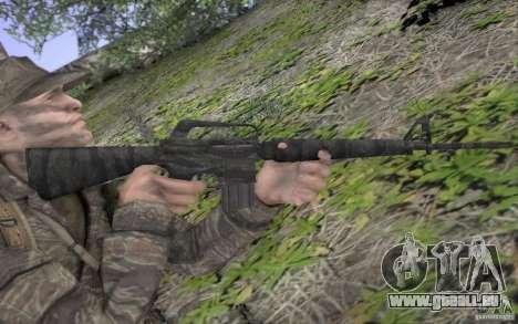 M16A1 Vietnam war für GTA San Andreas fünften Screenshot