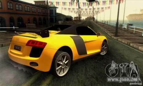 Audi R8 Spyder Tunable pour GTA San Andreas moteur