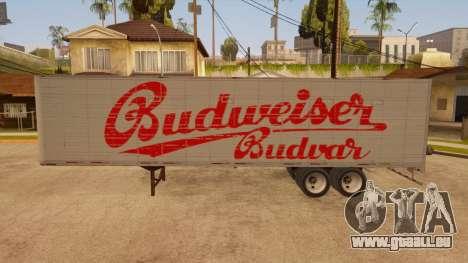 Ganzmetall-trailer für GTA San Andreas linke Ansicht