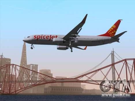 Boeing 737-8F2 Spicejet für GTA San Andreas