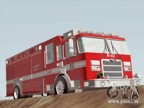 Pierce Contender LAFD Rescue 42 für GTA San Andreas linke Ansicht