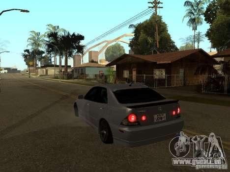 Lexus IS300 JDM pour GTA San Andreas vue arrière