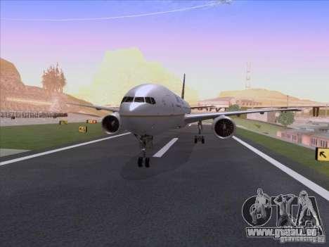 Boeing 777-200 United Airlines für GTA San Andreas linke Ansicht