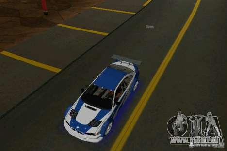 BMW M3 GTR NFSMW pour une vue GTA Vice City de la droite
