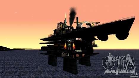 Plate-forme pétrolière à Los Santos pour GTA San Andreas troisième écran