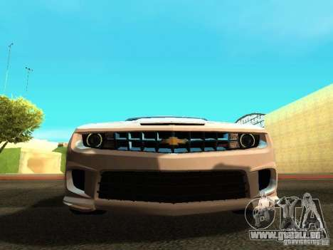 Chevrolet Camaro SS 2010 pour GTA San Andreas vue intérieure