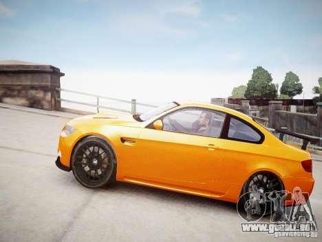 BMW M3 GT-S pour GTA 4 Vue arrière