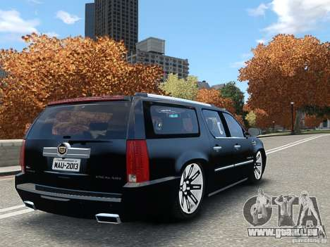 Cadillac Escalade ESV 2012 DUB pour GTA 4 est une gauche