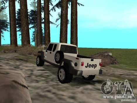 Jeep Gladiator pour GTA San Andreas sur la vue arrière gauche