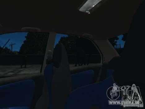 Mitsubishi Lancer Evo VI GSR pour GTA 4 est une vue de l'intérieur