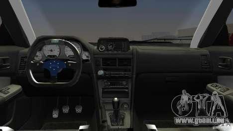 Nissan Skyline GTR R34 pour une vue GTA Vice City de la droite