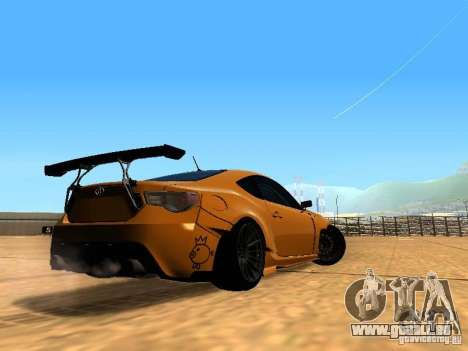 Toyota FT86 Rocket Bunny V2 pour GTA San Andreas vue de droite