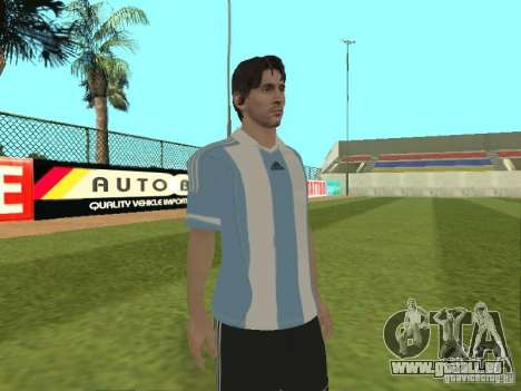 Lionel Messi pour GTA San Andreas quatrième écran