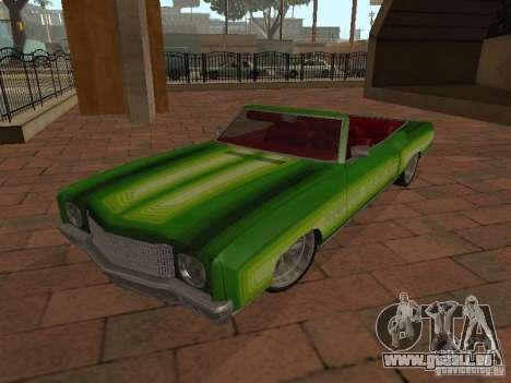 1970 Chevrolet Monte Carlo pour GTA San Andreas vue arrière