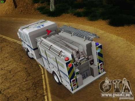 Pierce Pumpers. B.C.F.D. FIRE-EMS pour GTA San Andreas vue de dessous
