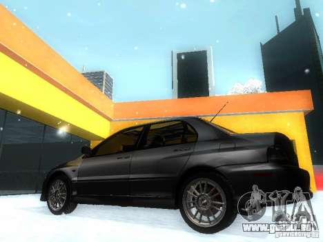 Mitsubishi Lancer Evo IX MR Evolution für GTA San Andreas linke Ansicht