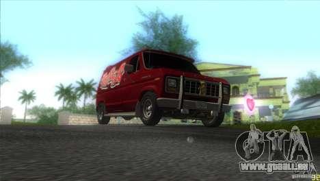 Ford E-150 Gang Burrito pour GTA Vice City vue arrière