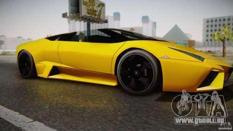Lamborghini Reventón Roadster 2009 pour GTA San Andreas sur la vue arrière gauche