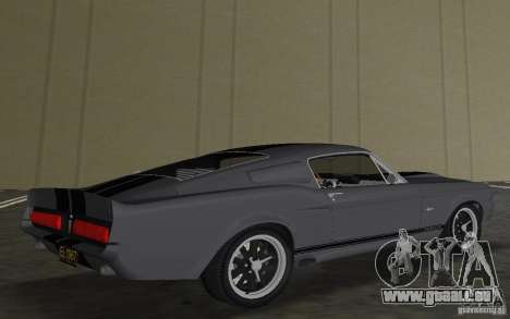 Shelby GT500 Eleanor für GTA Vice City Rückansicht