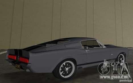Shelby GT500 Eleanor pour GTA Vice City vue arrière