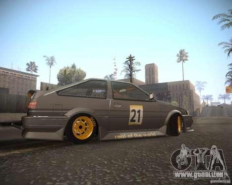 Toyota Levin AE86 RWB pour GTA San Andreas laissé vue