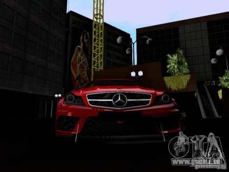 Mercedes-Benz C63 AMG 2012 Black Series für GTA San Andreas Seitenansicht