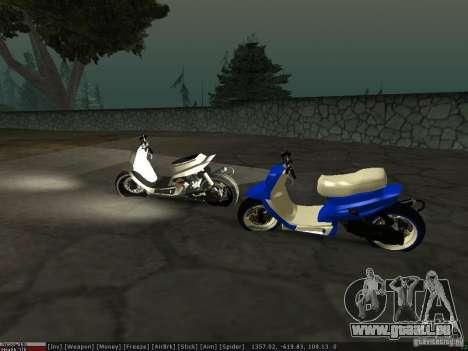 Yamaha Aerox pour GTA San Andreas vue de côté
