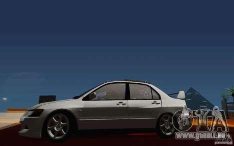 Mitsubishi Lancer Evo VIII GSR für GTA San Andreas Innenansicht