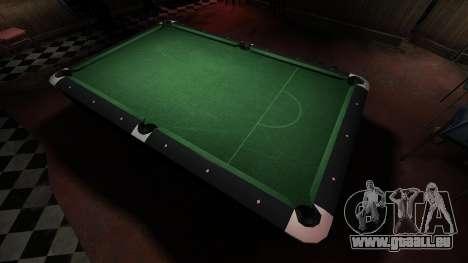 Table de billard supérieure dans la barre de 8 b pour GTA 4 troisième écran