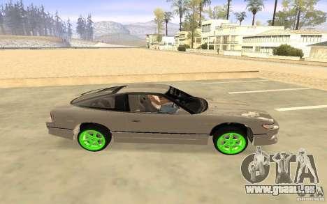 Nissan 200SX Monster Energy pour GTA San Andreas sur la vue arrière gauche