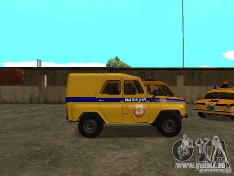UAZ 3151 Police pour GTA San Andreas laissé vue