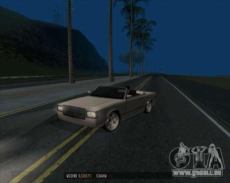 Feltzer v1.0 pour GTA San Andreas sur la vue arrière gauche