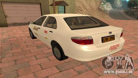 Toyota Corolla - LOLEK TAXI für GTA San Andreas zurück linke Ansicht