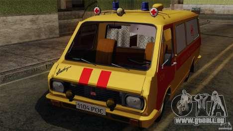 RAF 22031 Latvija ambulance pour GTA San Andreas vue intérieure