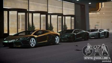 Lamborghini Aventador LP700-4 pour GTA 4 vue de dessus