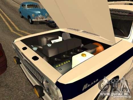 GAZ 24 milice pour GTA San Andreas vue de droite