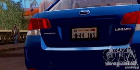 Subaru Legacy B4 2010 für GTA San Andreas Motor