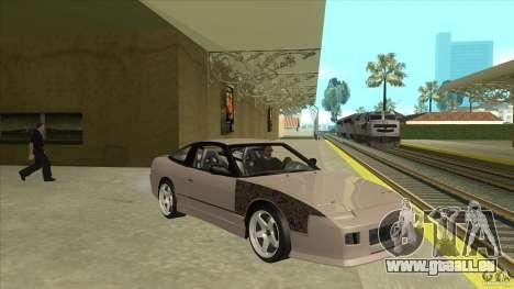 Nissan 240sx S13 JDM pour GTA San Andreas vue arrière