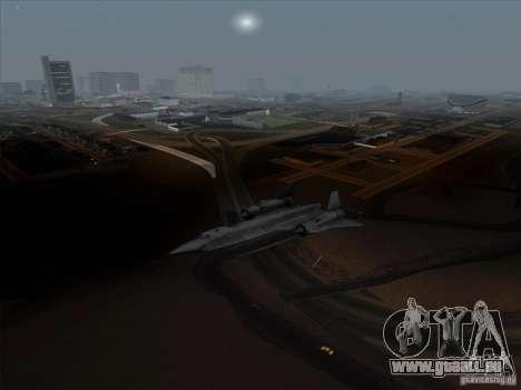 YF-12A pour GTA San Andreas laissé vue