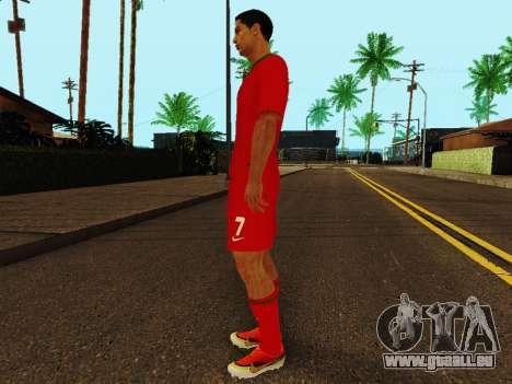 Cristiano Ronaldo v4 pour GTA San Andreas troisième écran