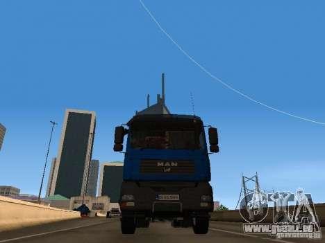 MAN TGA 28 430 PALIFT pour GTA San Andreas vue de droite