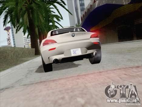 BMW Z4 2011 pour GTA San Andreas vue de côté