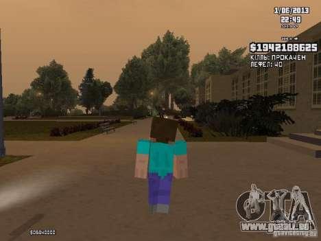 Steve pour GTA San Andreas deuxième écran