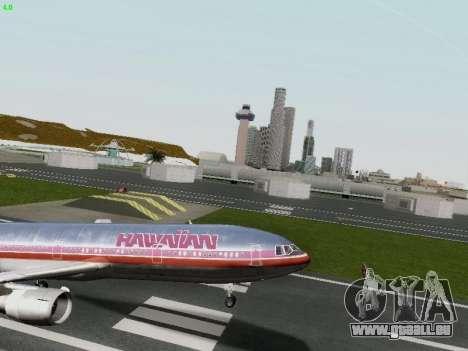 McDonell Douglas DC-10-30 Hawaiian pour GTA San Andreas vue de côté