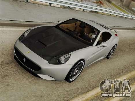 Ferrari California für GTA San Andreas Innen